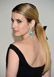 Emma Roberts kept it sleek and straight for the FX Golden Globes Party. If you don't have Emma's long locks, you can fake it with an added piece.