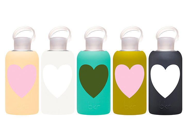 It's no secret we're fans of bkr's eco-friendly bottles, but its heart designs ($34) only fan the flame. — AE