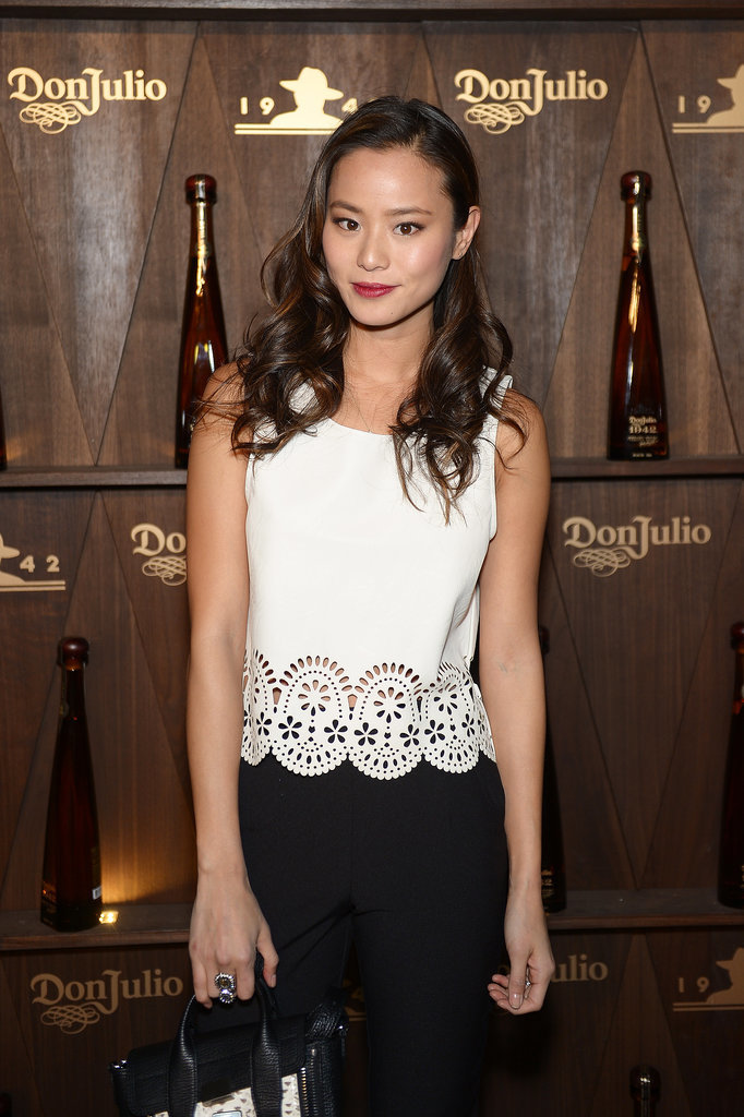 Jamie Chung showed up at the Tequila Don Julio 1942 party in black and white.