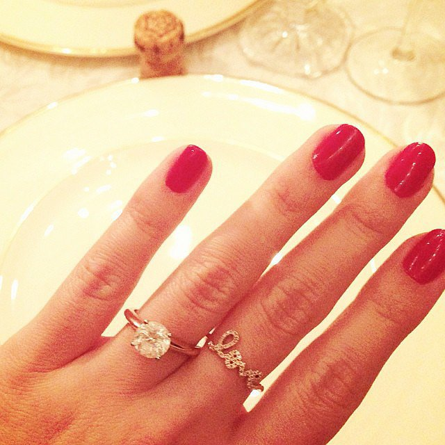 And a few months after that. . . They were engaged! Source: Instagram user laurenconrad