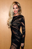 Beyoncé wore a sheer, formfitting dress to the DirecTV party.