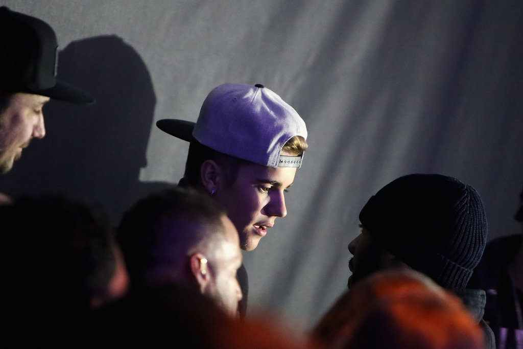 Justin Bieber hung out at Maxim magazine's bash on Friday.