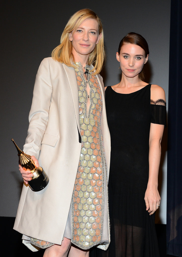 Cate Blanchett celebrated her win at the Santa Barbara International Film Festival with upcoming costar Rooney Mara.