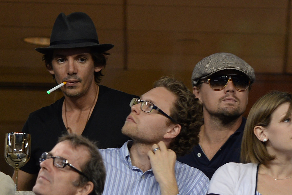Lukas Haas Is Leo's Tennis Match Buddy . . .