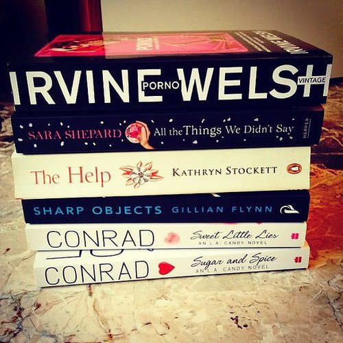 Alexlondon23 shared a stack of books she's reading.