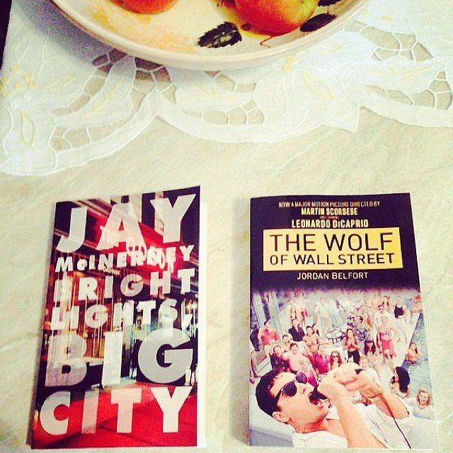 "Alexlondon23 captioned this: ""Just finished Bright Lights Big City and about to start The Wolf of Wall Street."""