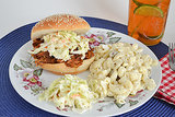 Easy Crockpot Pulled-Pork Sandwiches