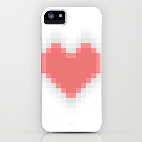 Pixel heart case ($35) for iPhone models and Samsung Galaxy S4