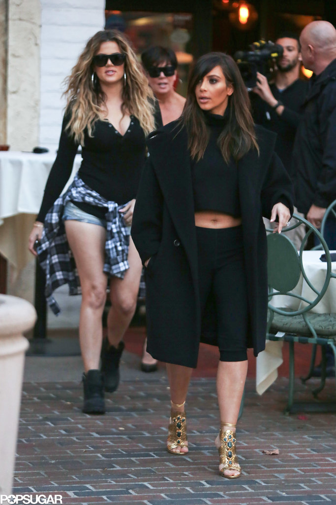 Just Like Us, Kim Is Still Getting Used to Her New Brown Hair