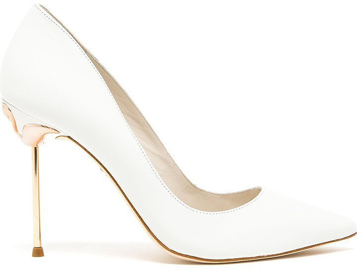 Sophia Webster Coco Pointed Leather Pumps ($481)