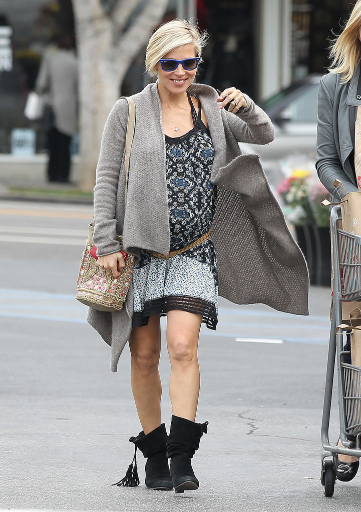Elsa Pataky showed off her growing bump on Tuesday when she visited Whole Foods in LA.