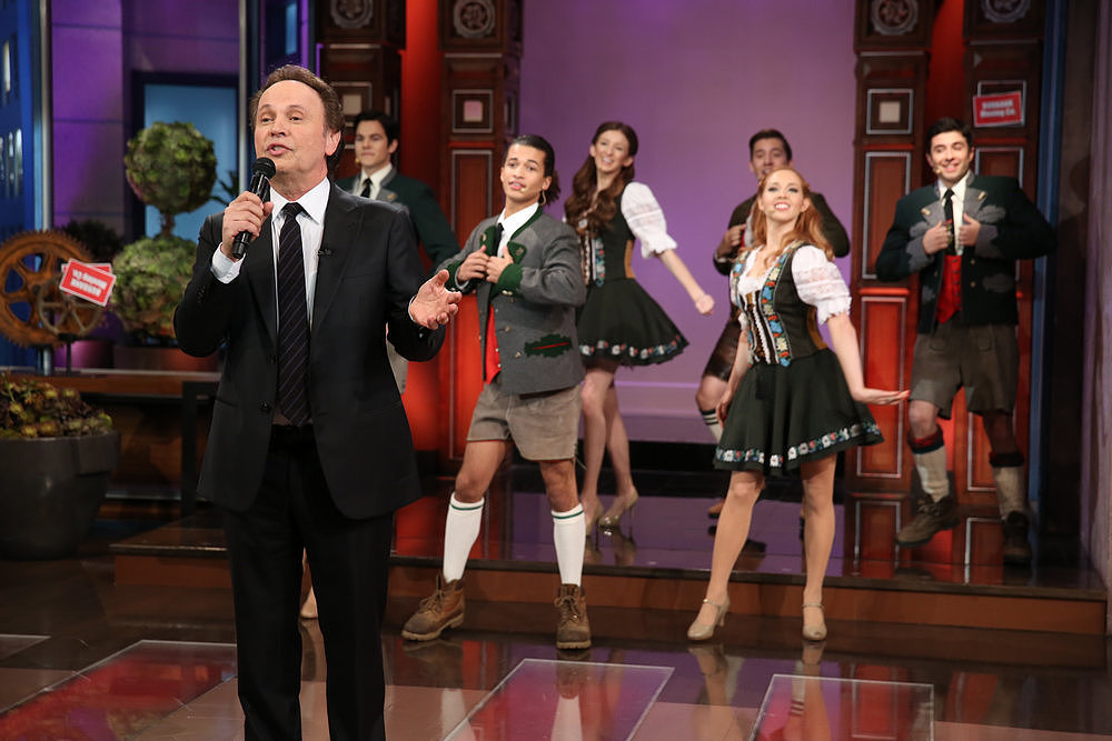 Billy Crystal sang to Jay Leno.
