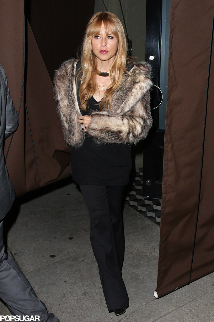 Rachel Zoe took a break from being a new mom to attend Michael's party.