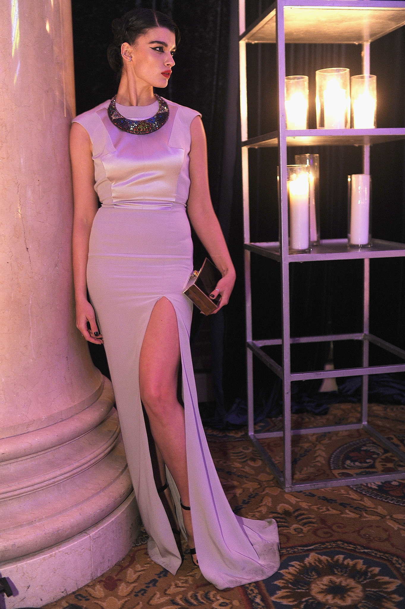 Crystal Renn, wearing Gabriela Cadena, at a
