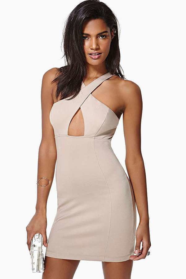 Nasty Gal Nude Dress