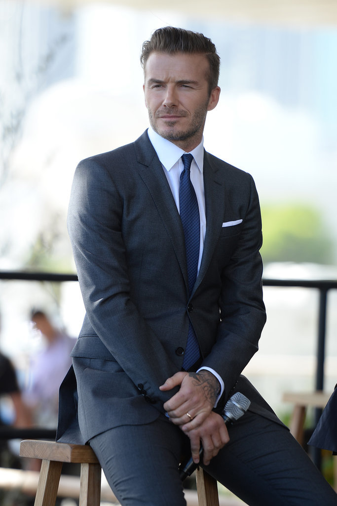 On Wednesday, David Beckham looked sharp when he announced that he will be launching a Major League Soccer team in Miami.