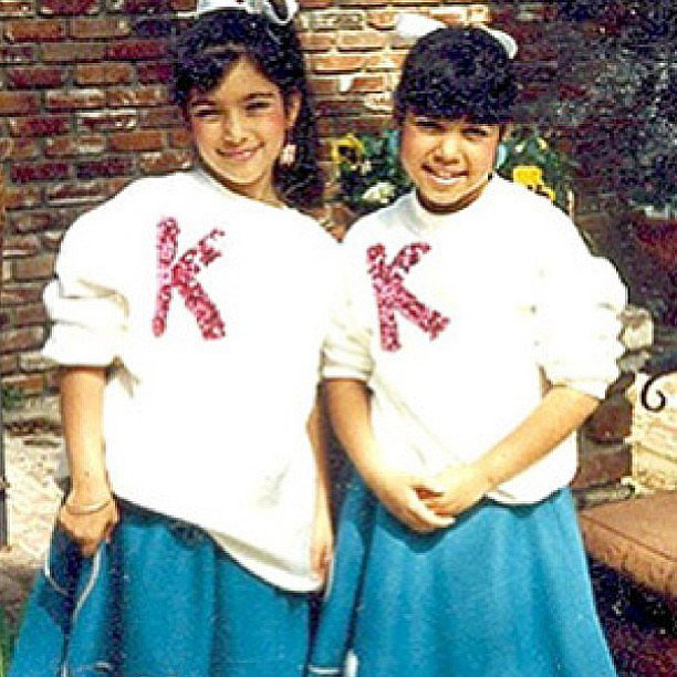 Kim and her sister Kourtney donned matching outfits. Source: Instagram user kimkardashian