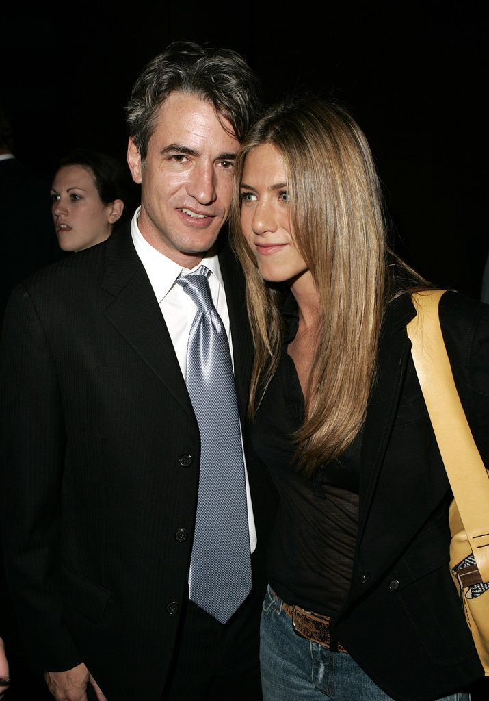 Jen linked up with Dermot Mulroney at an LA documentary screening in October 2004.
