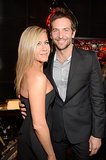 Jen linked up with her friend (and ex-fling) Bradley Cooper backstage at the Spike TV Guys' Choice Awards in June 2013.