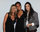 Jennifer was all smiles while hanging with Alicia Keys and Demi Moore at the NYC screening of their film Five in September 2011.