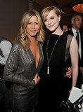 She stayed close to Evan Rachel Wood during Elle's Women in Hollywood event in October 2011.