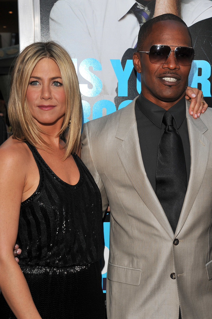 Jen stuck close to Jamie Foxx at the LA premiere of Horrible Bosses in June 2011.