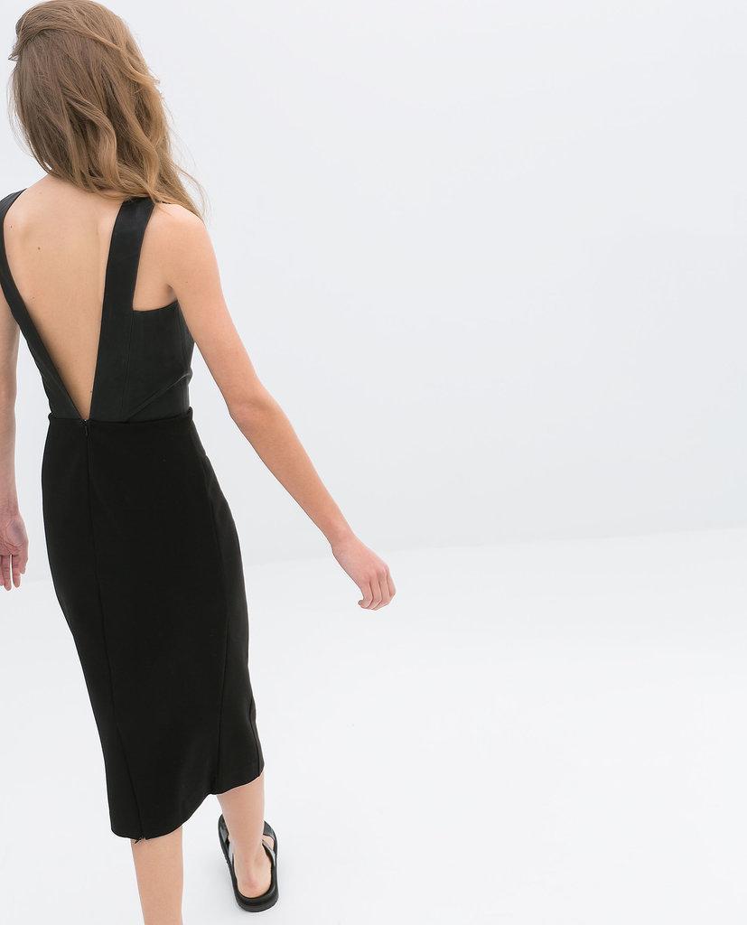 Zara Backless Black Dress ($60)
