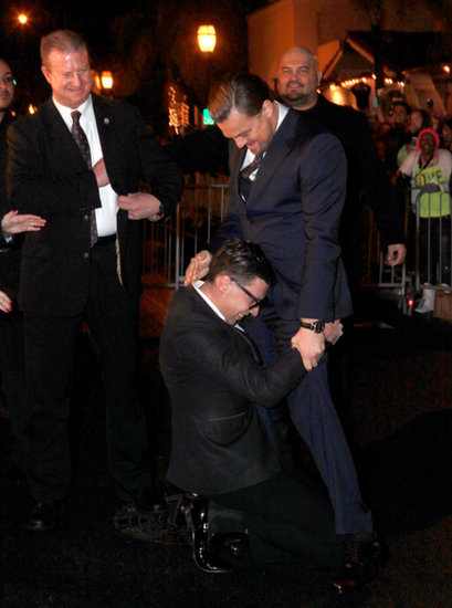 First Bradley, Now Leo Gets an Awkward Red Carpet Crotch Hug