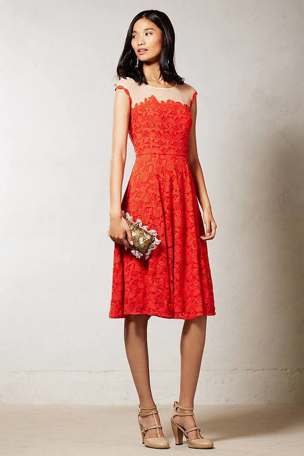 Mirror of Venus Red Lace Dress