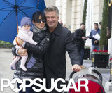 Alec Baldwin and his wife, Hilaria, took their daughter around Madrid on Thursday.