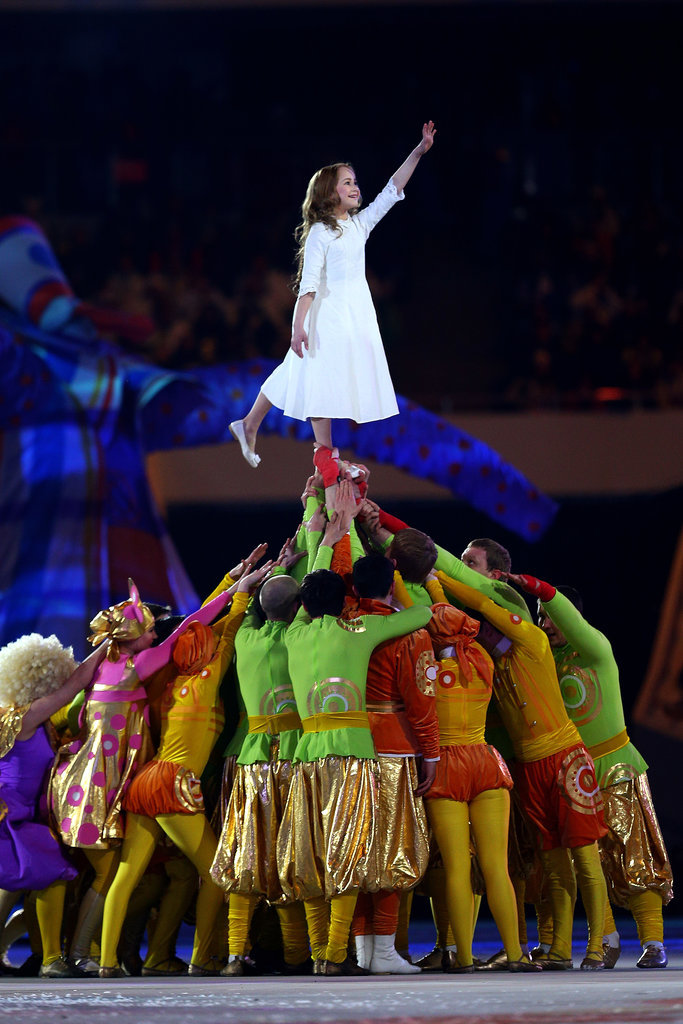 Liza Temnikova, 11, portrayed the character of Lubov, who was the centerpiece of the show.