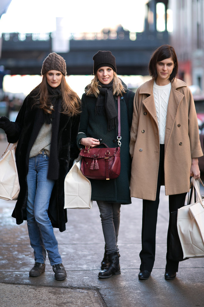 Three's a crowd, but three models make a very chic crowd.