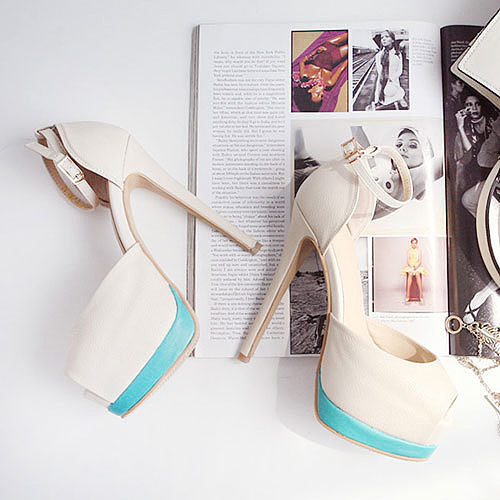 Image of [grxjy5190350]Ankle Strap Peep Toe Sandal High Stiletto Shoes