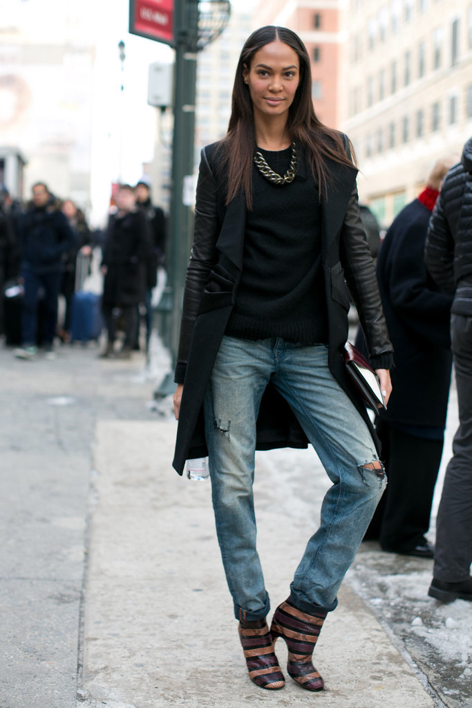 Joan Smalls makes jeans look anything but basic.