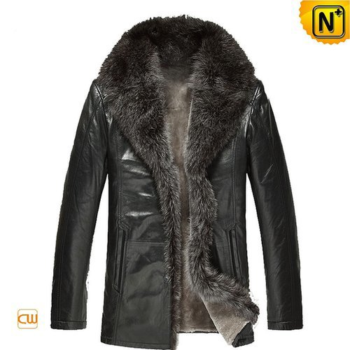 Mens Leather Sheepskin Fur Coat CW868881