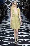 Shimmers of gold were all over the DVF runway in detailed but delicate dresses.