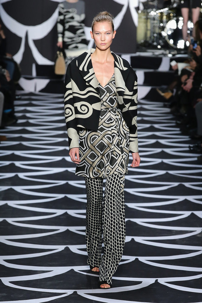 Geometric patterns were layered on top of one another for a distinct, delightful look.