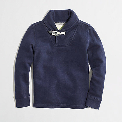 A Shawl Collar Sweatshirt
