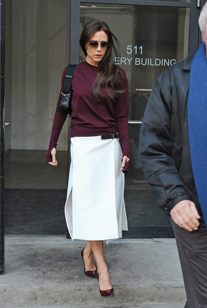 Victoria Beckham looked very chic during a Monday outing in NYC.