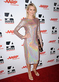On Monday, Naomi Watts wore a shimmering gown to AARP's Movies For Grownups Awards in Beverly Hills.