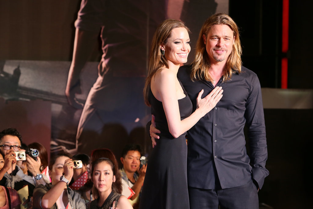 The couple cozied up on the red carpet at the Tokyo premiere of Brad's flick World War Z in July 2013.