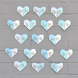 Origami Heart Escort Cards