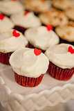 Cupcake Heart Toppers