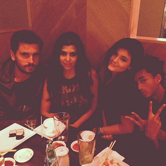 Kourtney Kardashian and Scott Disick went out on a double dinner date with Kendall Jenner and her boyfriend, Jaden Smith. Source: Instagram user kourtneykardash