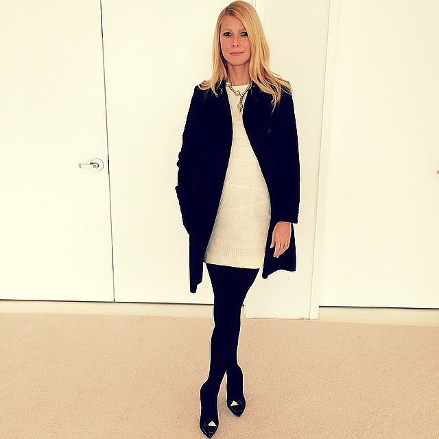 Gwyneth Paltrow posed in her new Hugo Boss ensemble before attending the brand's runway show during NYFW. Source: Instagram user gwynethpaltrow