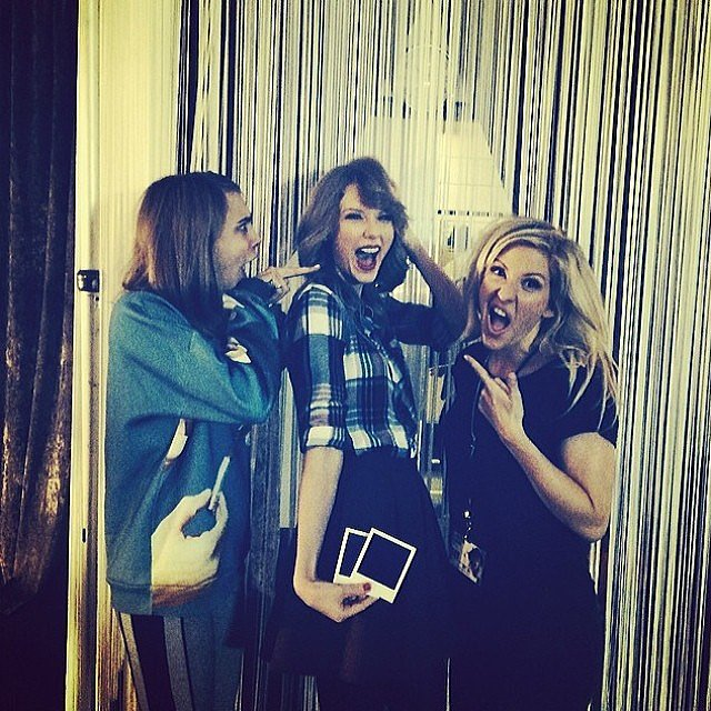 Taylor Swift celebrated her new haircut with pals Cara Delevingne and Ellie Goulding. Source: Instagram user caradelevingne
