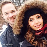 Nina Dobrev and Shawn Ashmore made snowmen together. Source: Nina Dobrev on WhoSay