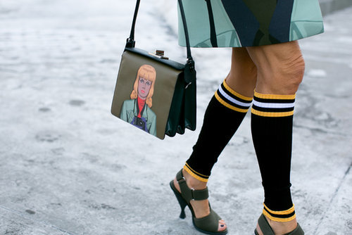 Anna Dello Russo's accessories were made for playing the street style game.