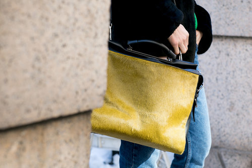 Can't get over the texture or color on this high-wattage Phillip Lim bag.