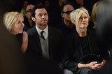 Hugh Jackman sat in the front row with his wife, Debora-Lee Furness, at Donna Karan's presentation.